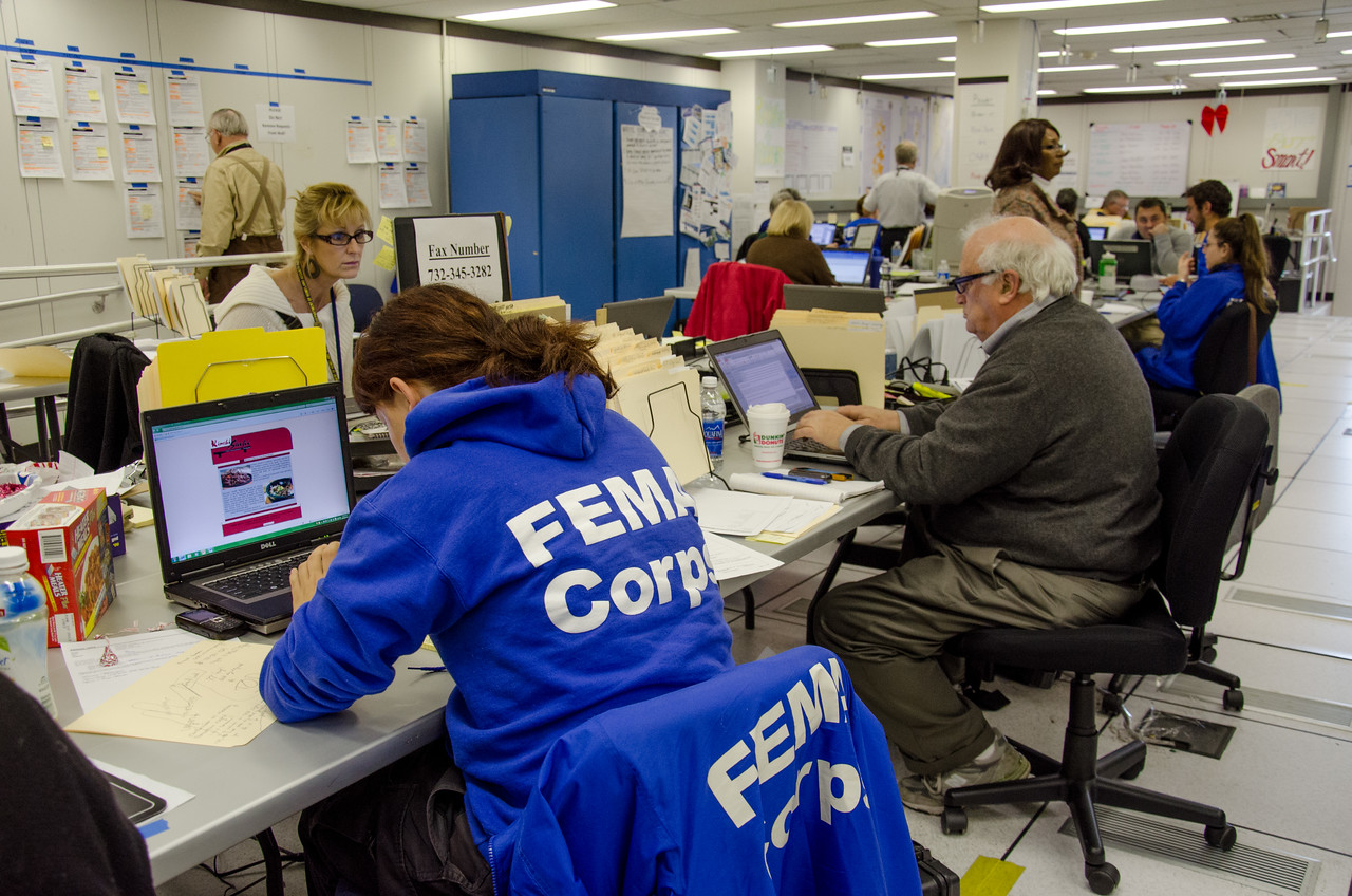 FEMA Corps members have been deployed in every department to support the recovery effort during Hurricane Sandy. (FEMA photo by Liz Roll)