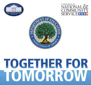 Together for Tomorrow is a joint initiative of the White House Office of Faith-based and Neighborhood Partnerships together with the U.S. Department of Education and CNCS, that recognizes community-led partnership to support struggling schools.