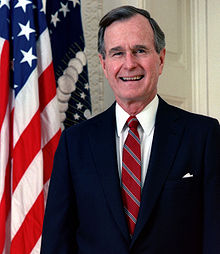 President George H.W. Bush in his 1989 official portrait.