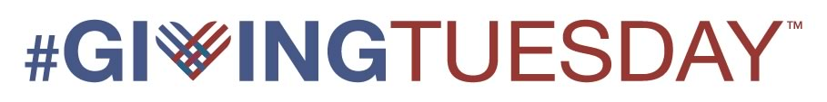 The Giving Tuesday logo highlights the event that encourages charitable works on the Tuesday after Thanksgiving.