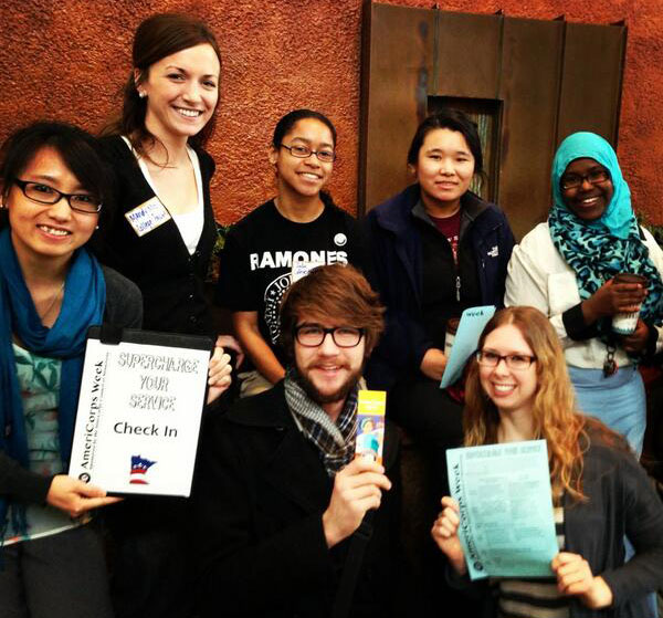 College Possible Twin Cities sends a note of thanks to all of its AmeriCorps members who work with low-income students each day. (Photo by Sara Dziuk)