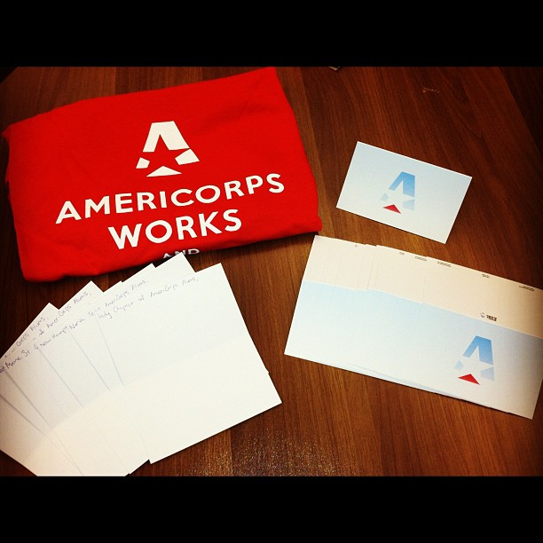 AmeriCorps Alums marketing materials for AmeriCorps Week