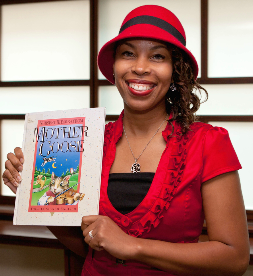 Sherryl Anthony says the Nursery Rhymes From Mother Goose helped her learn to read when she was growing up.