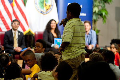 Let's Read. Let's Move event at the Department of Education.