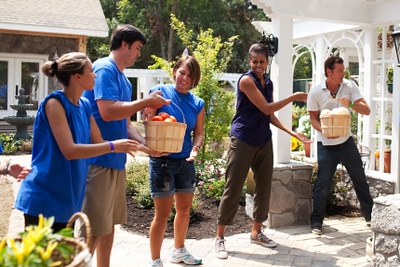 "First Lady Michelle Obama participates in an episode of ""Extreme Makeover: Home Edition"" featuring the Marshalls, a military family in Fayetteville, North Carolina, July 21, 2011. (Official White House Photo by Samantha Appleton)"