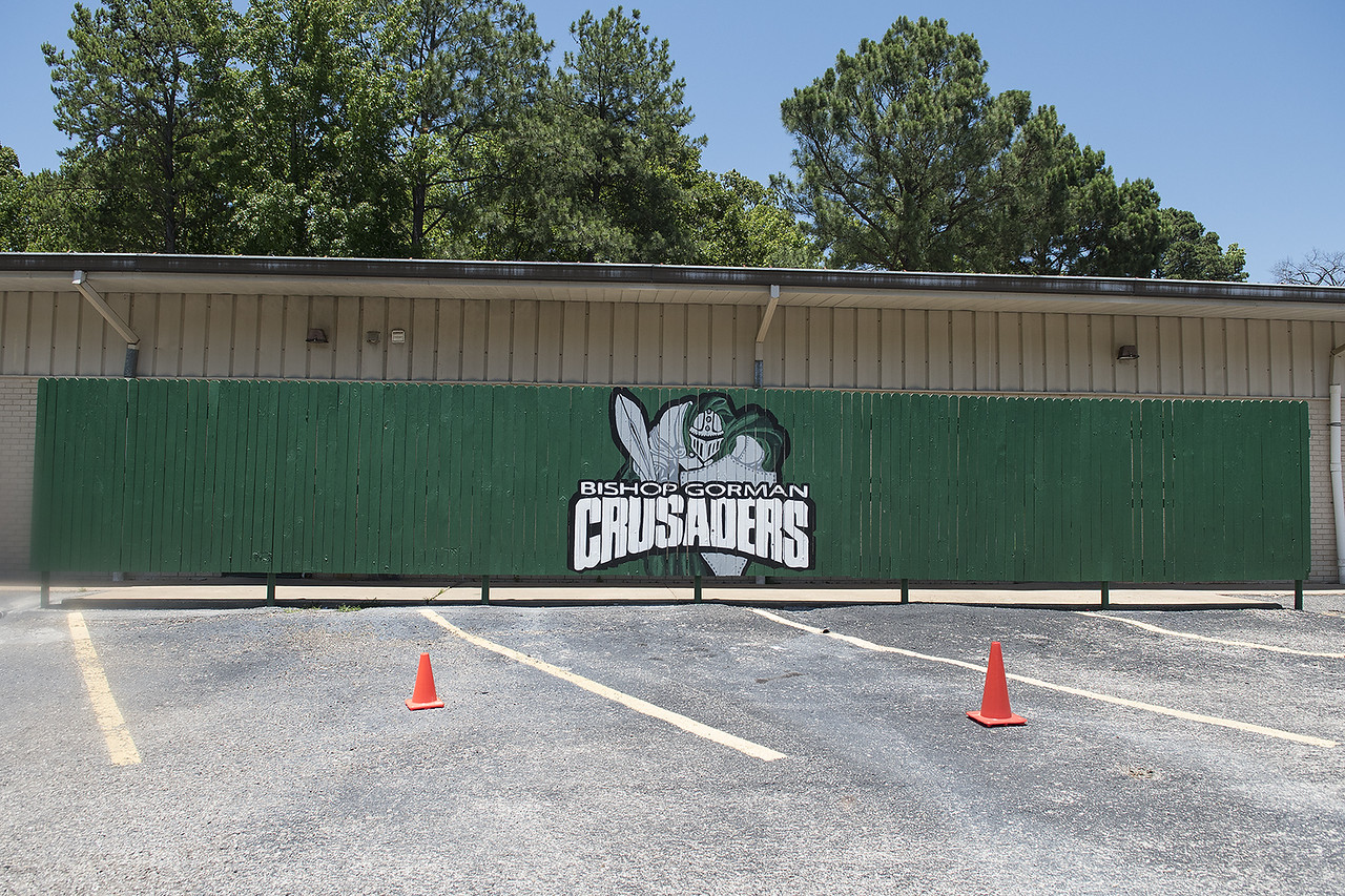 The field house will be torn down for the new Brodnax Family Crusader Center at Bishop Thomas K. Gorman Cathedral School Thursday May 25, 2017. The 4.9 million dollar multi-purpose building will replace the existing field house. It will house locker rooms, a weight room, an area for drill, dance and cheer teams and to view films.   (Sarah A. Miller/Tyler Morning Telegraph)