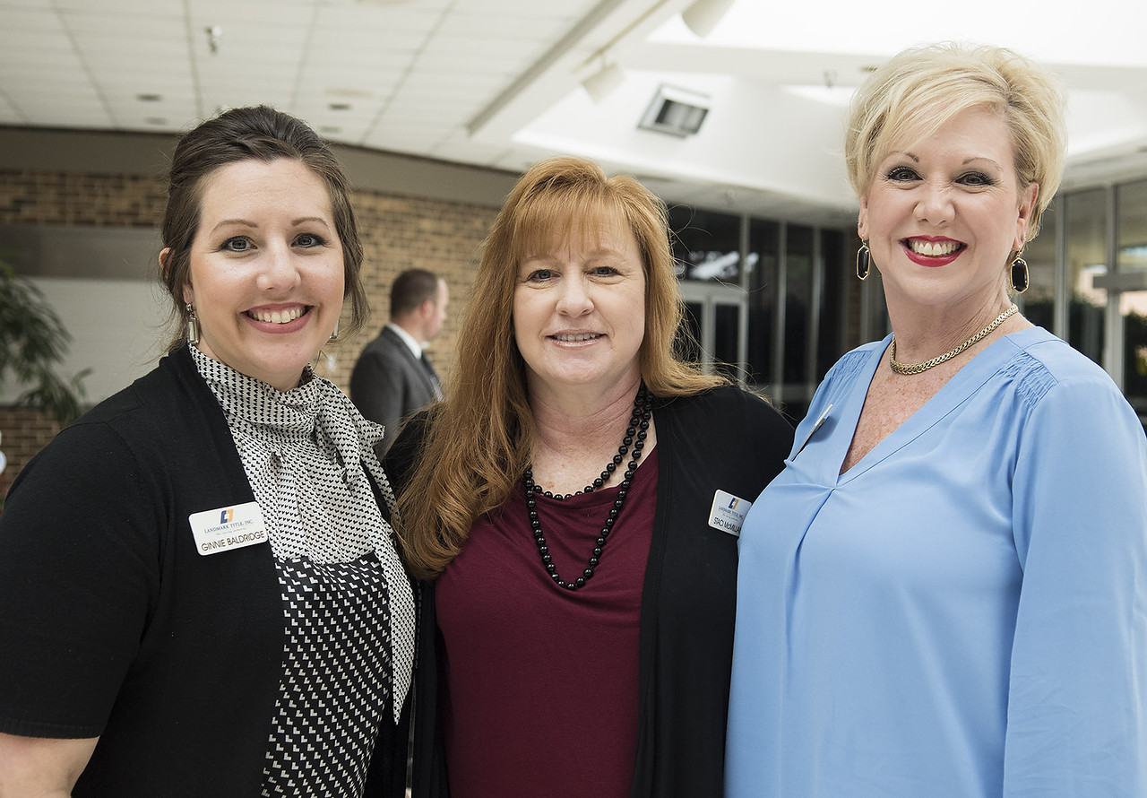 Ginnie Baldridge, Staci McMillan and Beth Elbert attend the State of the City Address at Harvey Hall Convention Center Wednesday May 17, 2017.  (Sarah A. Miller/Tyler Morning Telegraph)