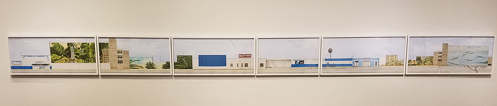 """Leigh Merrill (b. 1978). """"The Strip,"""" 2013. Pigment prinst, 20 x 254 in. Courtesy of the artist."""