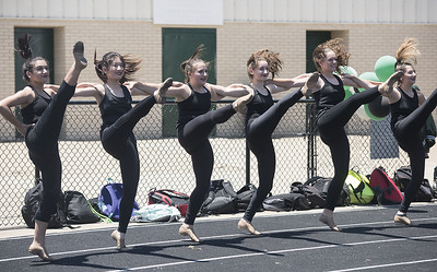The dance team performs at the ground blessing ceremony for the Brodnax Family Crusader Center at Bishop Thomas K. Gorman Cathedral School Thursday May 25, 2017. The 4.9 million dollar multi-purpose building will replace the existing field house. It will house locker rooms, a weight room, an area for drill, dance and cheer teams and to view films.   (Sarah A. Miller/Tyler Morning Telegraph)