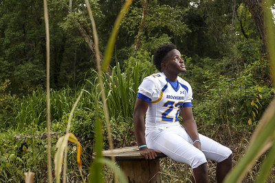 Brownsboro's Kevon Thompson poses for a portrait at Chandler River Park in Chandler, Texas, on Wednesday, Aug. 2, 2017. (Chelsea Purgahn/Tyler Morning Telegraph)