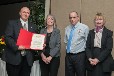 Distinguished Staff Robert Bentley  with Shelly VandePanne, Craig Bowman and Pam Muccio.