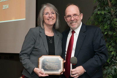 Outstanding First Year Advocate Shelly VandePanne with Provost Fritz Erickson.