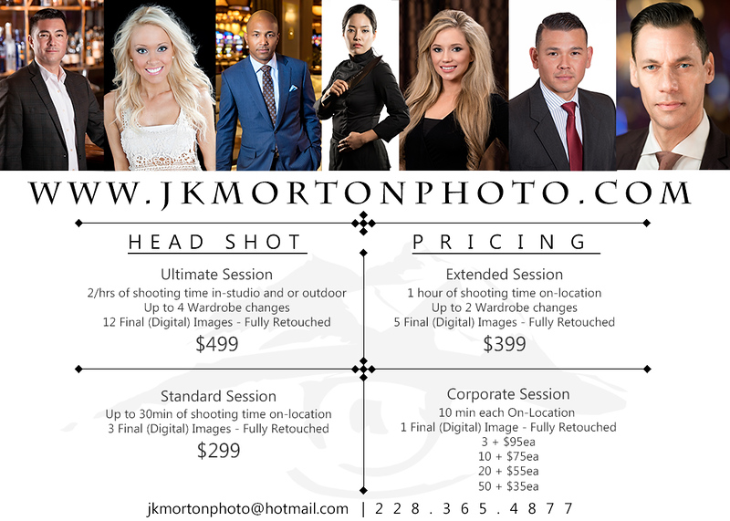 HEADSHOT PRICING