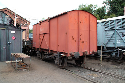 4w Non Vent Van No 346 at Bewdley Sidings  20/07/13.