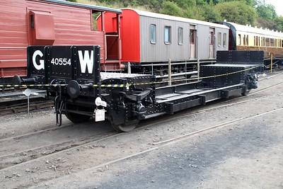 Well Wagon No 40554 at Bewdley Sidings  20/07/13.