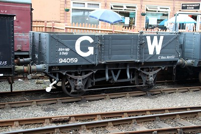 12t 5 Plank ex China Clay 94059 at Bewdley Station  20/07/13.