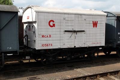 6t Meat Van 105873 at Bewdley Station  20/07/13.