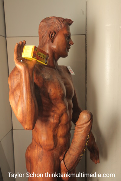 """$1890 for this 180cm """"wood"""" carving."""