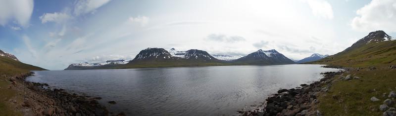 Seyðisfjörður séð á leiðini út á Brimnes