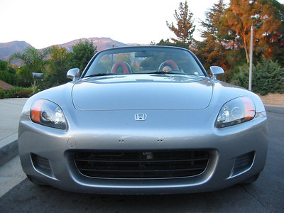 Shane's new Honda S2000: David at the wheel shows what he'll look like in 2 months when he gets his driver's permit.