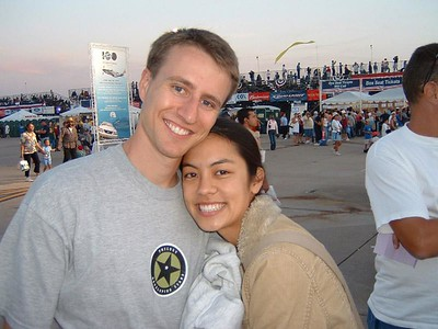 Miramar Air Show: Shane and Jayna before the twilight show