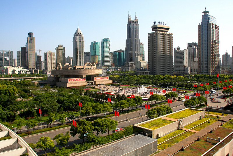 Downtown and the Shanghai Museum