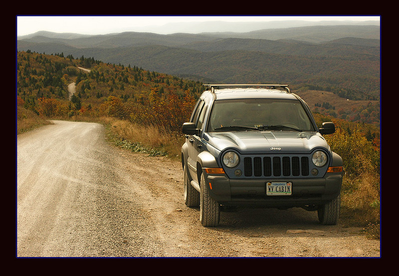 This photo was taken at the top of Spruce Knob, the highest point in West Virginia at 4,861 ft.  This view allows for a 360-degree vista and my Jeep loves the trek!