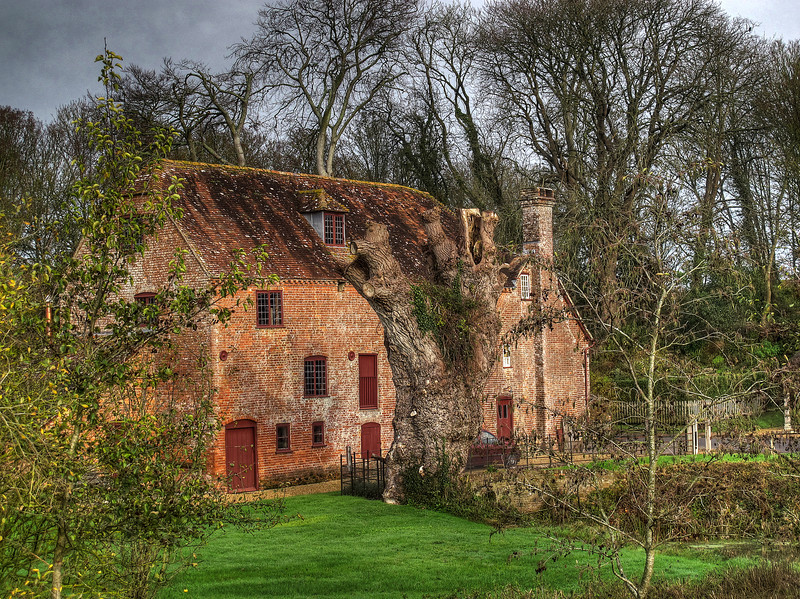 White Mill, a National Trust watermill at Shapwick, Dorset