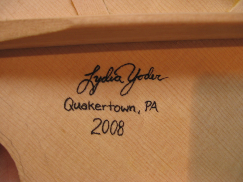 Sign and date the inside of the top. You can always prove the guitar belongs to you.