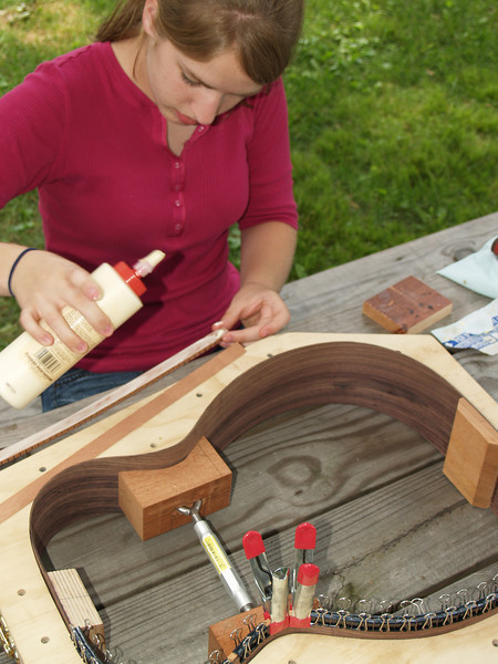 Common yellow wood glue is used here.
