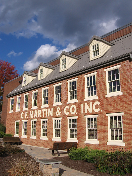 The new museum facade at the present Martin factory.