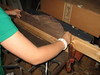 Flattening the edges of the back joint.