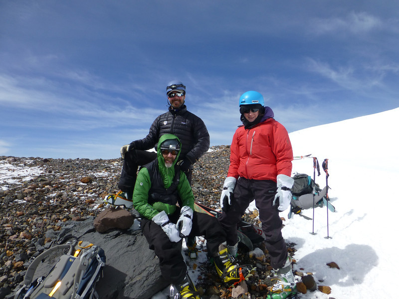 Top of the West Face.  Summit of Shasta directly behind the photographer.