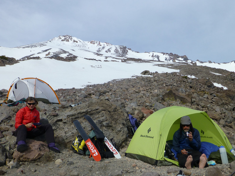 Our campsite at the bottom of the West Face, right at the beginning of Cascade Gulch.  Approximately elevation 9700.