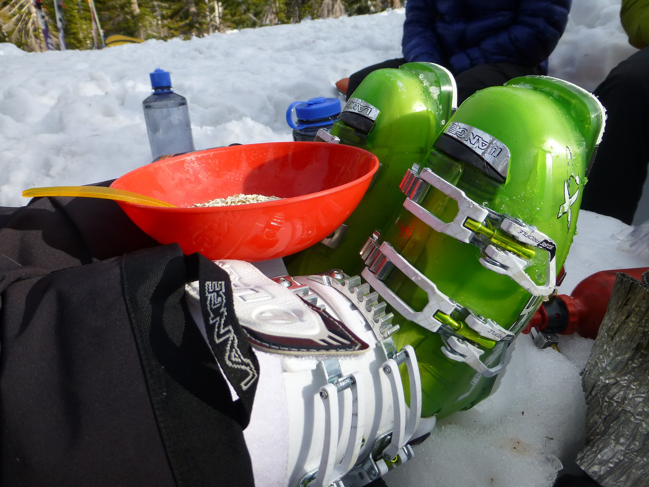Did you know we serve meals on ski boots?