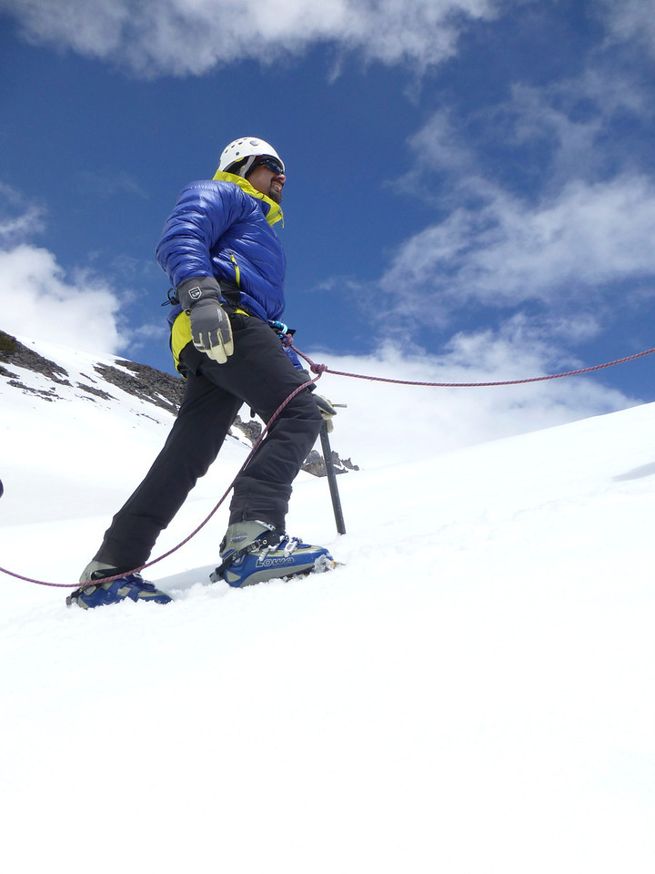 Ice axe, crampon and short roping practice on Saturday.