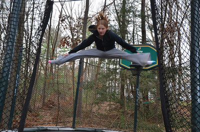 Shayna on the trampoline 3-25-12