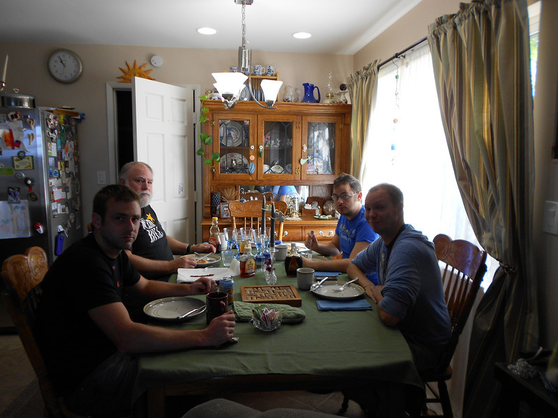 After breakfast--all my guys :)