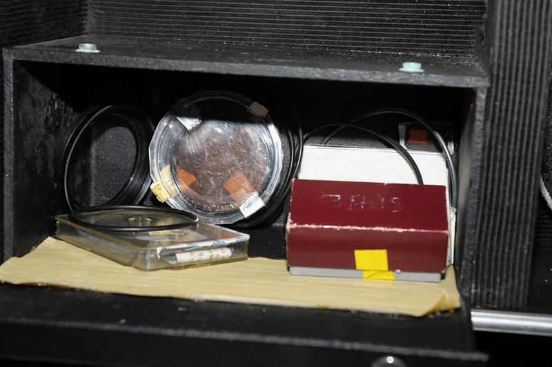 Camera accessories in case
