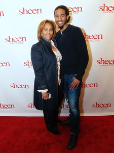 Kimberly Chapman, Publisher of Sheen Magazine, Head of Nairobi Professional Hair Products and The Chapman Foundation pictured with her Son, Tre Chapman.