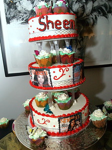 Sheen Magazine's Anniversary Celebration Cake by Cake Cafe Atlanta http://www.cakecafeatlanta.com