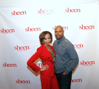 Shay L. Williams, Editor of Sheen Magazine and Ben Evans, Sheen Photographer.