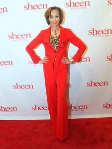 Shay L. Williams, Editor of Sheen Magazine on the Red Carpet.
