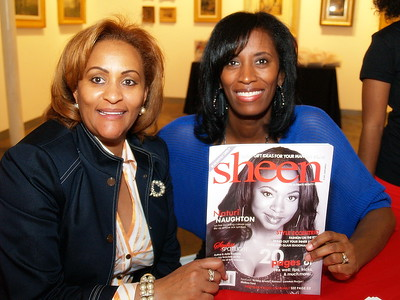 Kimberly Chapman, Publisher of Sheen Magazine, Head of Nairobi Professional Hair Products and The Chapman Foundation pictured with Monique Evans, President and Founder of The Children's Pride Foundation.
