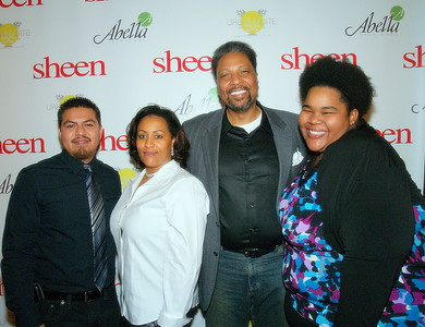 (L) to (R) Obed Santiago, Editor of Sheen Magazine, Mr. and Mrs. Chapman,  Publishers/Owners of Sheen Magazine, Nairobi Hair Products and The Chapman Foundation and Holly Clay, Sheen Magazine Senior Writer.
