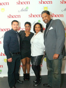 (L) to (R) Obed Santiago, Editor of Sheen Magazine, Janelle Langford, Owner/Publicist of Urban Suite Entertainment and Mr. and Mrs. Chapman Publishers/Owners of Sheen Magazine, Nairobi Hair Products and The Chapman Foundation.