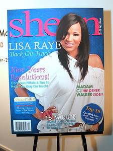 LisaRaye McCoy-Misick, Actress and Fashion Designer graces the Winter Issue of Sheen Magazine.