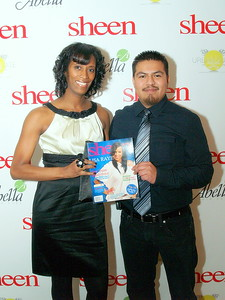Monique Evans, Founder & President of Children's Pride and Obed Santiago, Editor of Sheen Magazine.