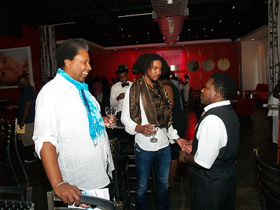 (L) to (R) William Chapman, Co-Founder of Nairobi Professional Products, his Son Tre Chapman and Darren Love Martin, Director of Marketing and Promotions at Sheen Magazine and Nairobi Professional Products.