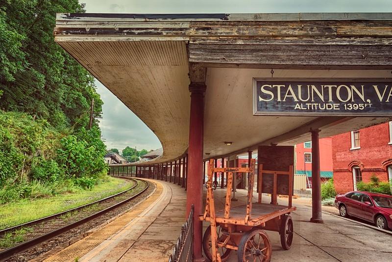 Former train station, Staunton, still seved by Amtrak